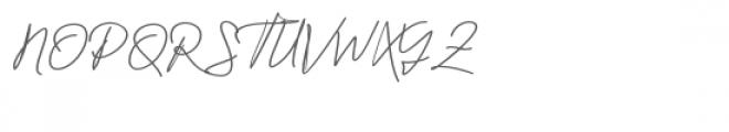 Jackson Script Font UPPERCASE