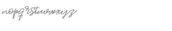 Jackson Script Font LOWERCASE