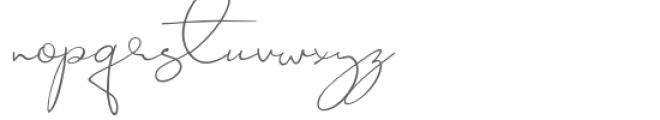 Jackson Font LOWERCASE