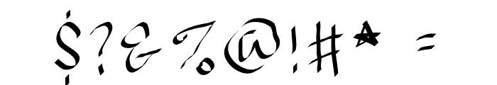 JBMCalligrad Font OTHER CHARS