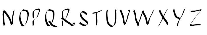 JBMCalligrad Font UPPERCASE