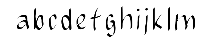 JBMCalligrad Font LOWERCASE