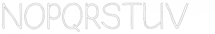 JBScript Outline Regular Font UPPERCASE