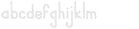 JBScript Outline Regular Font LOWERCASE