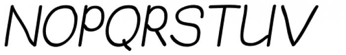 JBScript Simple Bold Italic Font UPPERCASE