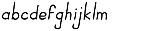 JBScript Simple Bold Italic Font LOWERCASE