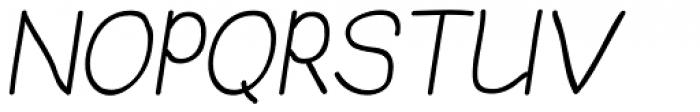 JBScript Simple Italic Font UPPERCASE