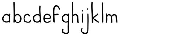 JBScript Simple Regular Font LOWERCASE