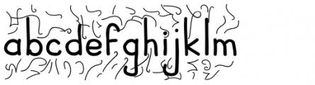 JBScript Turbules Bold Font LOWERCASE