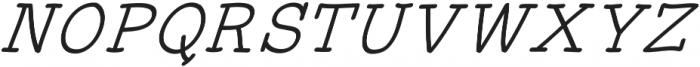 JD_Honey_Jar_Italic Medium otf (500) Font UPPERCASE