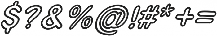 JD_Jellyfish_Outline_Italic Medium otf (500) Font OTHER CHARS