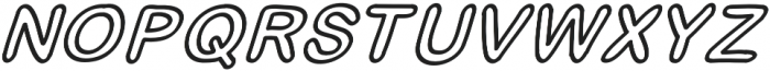 JD_Jellyfish_Outline_Italic Medium otf (500) Font UPPERCASE