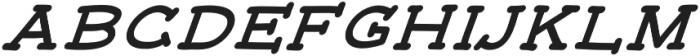 JD_Monday_Italic Medium otf (500) Font UPPERCASE