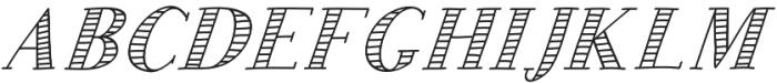 JD_Sunshine_Italic Medium otf (500) Font UPPERCASE