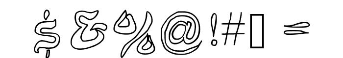 JD Belt Font OTHER CHARS