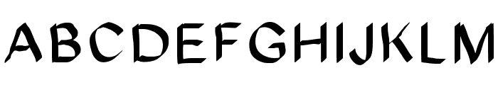 JD Glare Font UPPERCASE