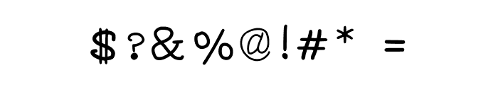 JD Irregutype Font OTHER CHARS