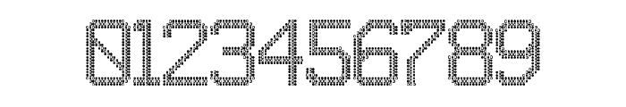 JD LED7 Regular Font OTHER CHARS