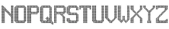 JD LED7 Regular Font UPPERCASE
