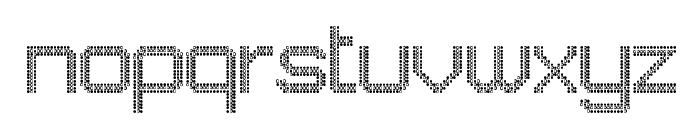 JD LED7 Regular Font LOWERCASE