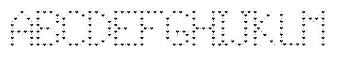 JD Lovers Regular Font UPPERCASE