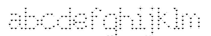 JD Lovers Regular Font LOWERCASE
