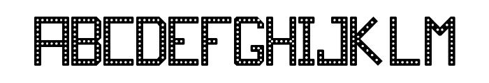 JD RevLED Regular Font UPPERCASE