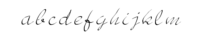 JD Sketched Font LOWERCASE