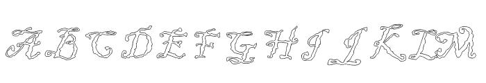 JD Uneven Font UPPERCASE