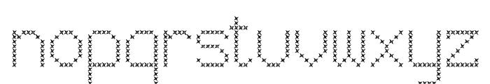 JD Vortex Regular Font LOWERCASE