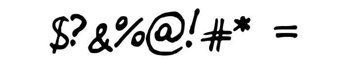 JDBrush Font OTHER CHARS