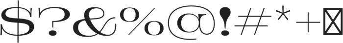 Jeames Light otf (300) Font OTHER CHARS