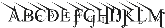 Jean Splice UpLeft otf (400) Font UPPERCASE