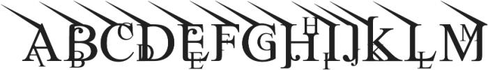 Jean Splice UpLeft otf (400) Font LOWERCASE