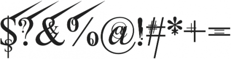 Jean Splice UpRite otf (400) Font OTHER CHARS