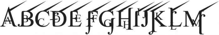 Jean Splice UpRite otf (400) Font UPPERCASE