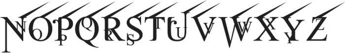 Jean Splice UpRite otf (400) Font LOWERCASE