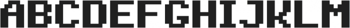 Jeebz ttf (700) Font UPPERCASE