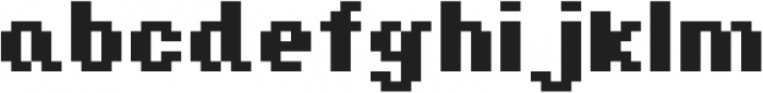 Jeebz ttf (700) Font LOWERCASE