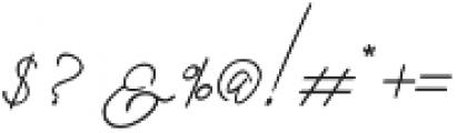 Jeffersigned otf (400) Font OTHER CHARS