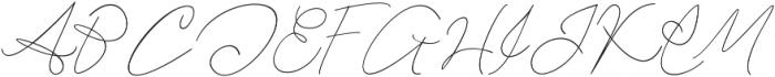 Jeffersigned otf (400) Font UPPERCASE
