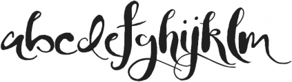 Jellybeans otf (400) Font LOWERCASE