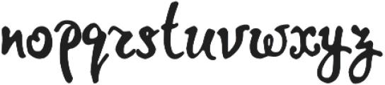 Jemmer otf (400) Font LOWERCASE