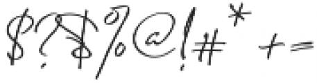 Jenny Simol Regular otf (400) Font OTHER CHARS