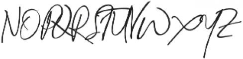 Jenny Simol Regular otf (400) Font UPPERCASE