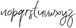 Jenny Simol Regular ttf (400) Font LOWERCASE
