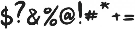 Jenthill otf (400) Font OTHER CHARS