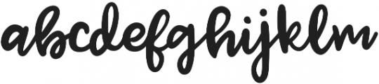 Jenthill otf (400) Font LOWERCASE