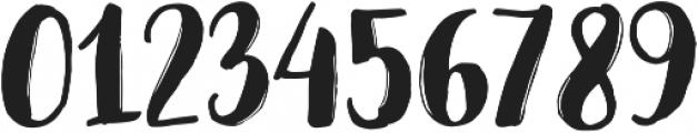 Jeremy Brush otf (400) Font OTHER CHARS