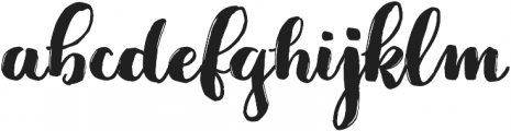 Jeremy Brush otf (400) Font LOWERCASE